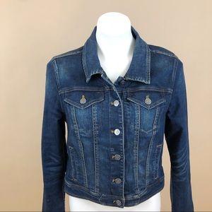 Anthropologie Classic Stretch Dark Wash Jean Coat